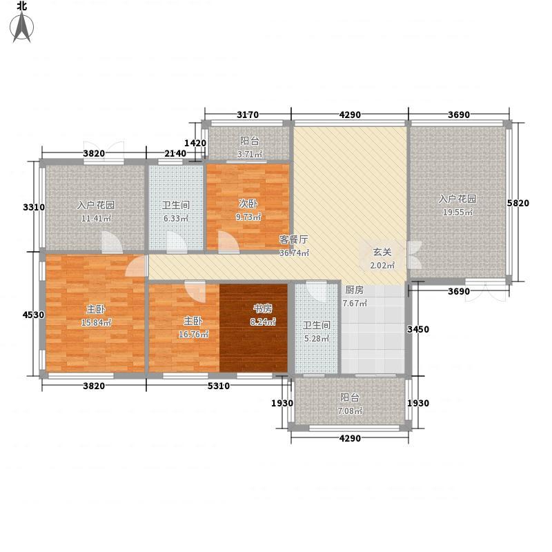 茂业豪园182.00㎡茂业豪园户型图超大入户花园3室2厅3卫户型3室2厅3卫