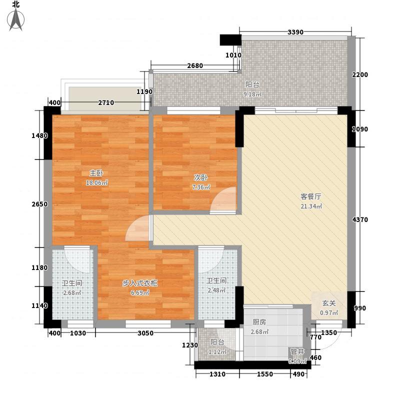 新天美地花园93.62㎡3期6栋标准面积9362m户型