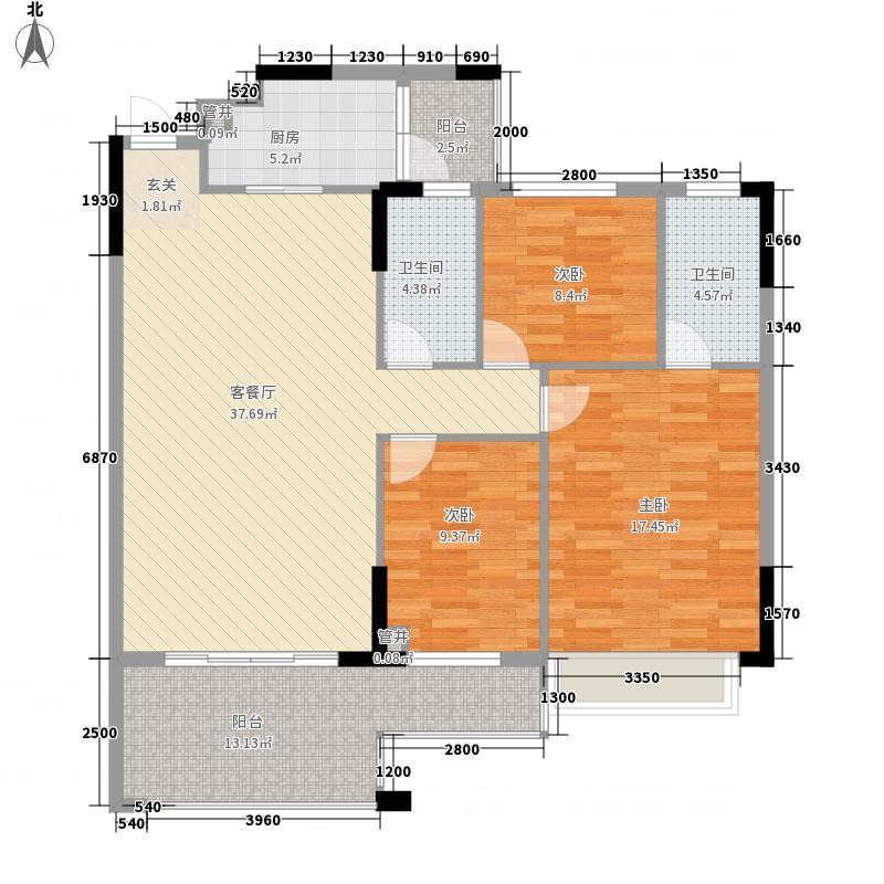 新天美地花园118.90㎡1期3栋标准面积11890m户型
