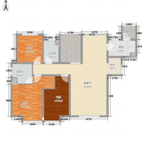 引黄宿舍3室1厅2卫1厨175.00㎡户型图