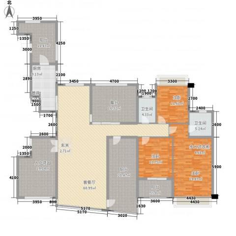 嘉诚花园3室1厅2卫1厨282.00㎡户型图