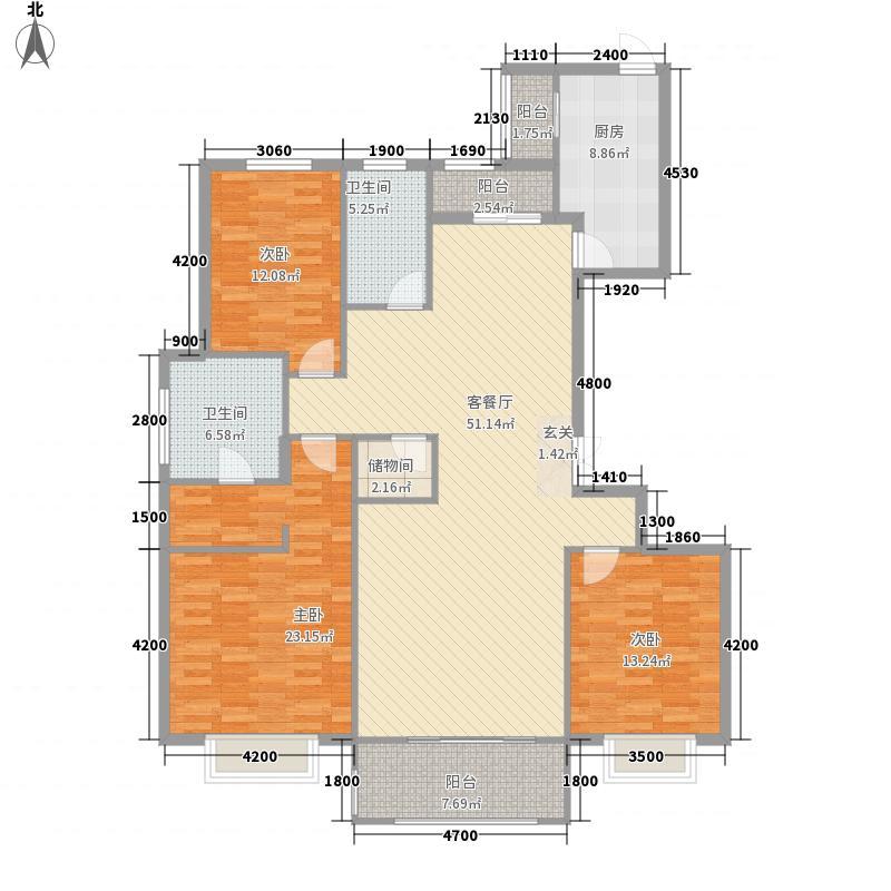 大成・逐鹿会18.66㎡8#9#F-1户型3室2厅2卫1厨