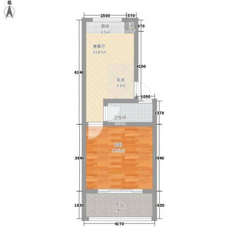 天建南苑旅游度假村1室1厅1卫0厨55.00㎡户型图