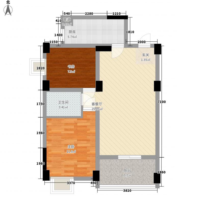 警民88.00㎡小区户型2室
