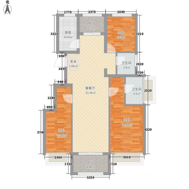 小城之春118.00㎡二期10#E户型3室2厅2卫1厨