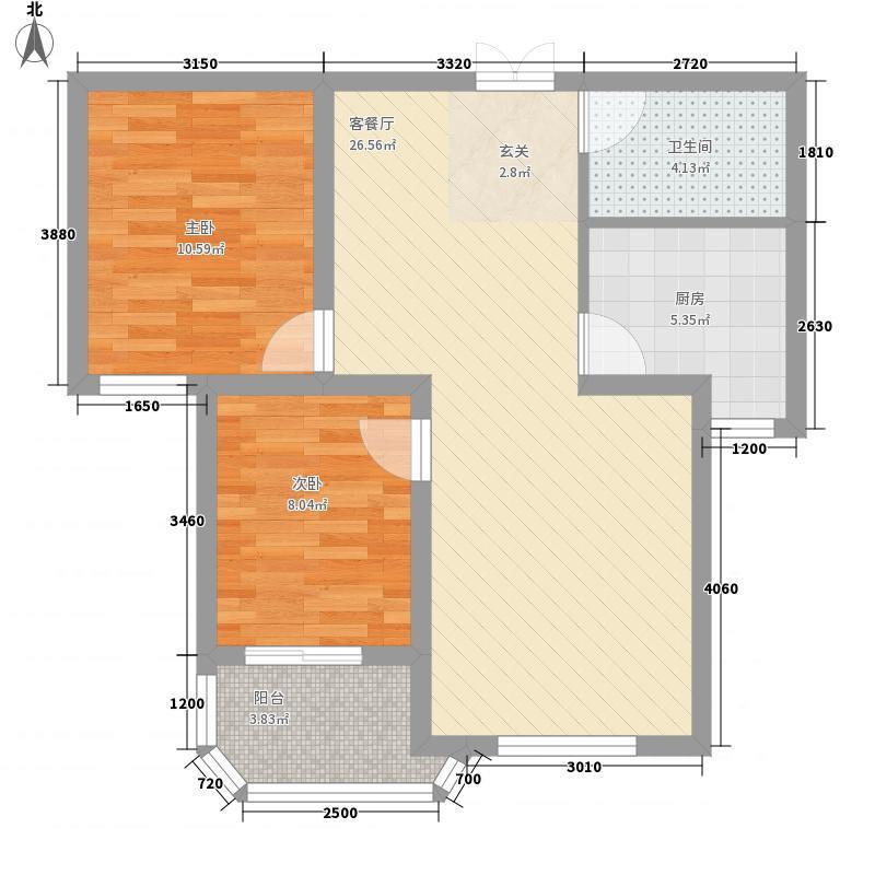 嘉盛花园(莲前)嘉盛花园3户型2室2厅1卫1厨