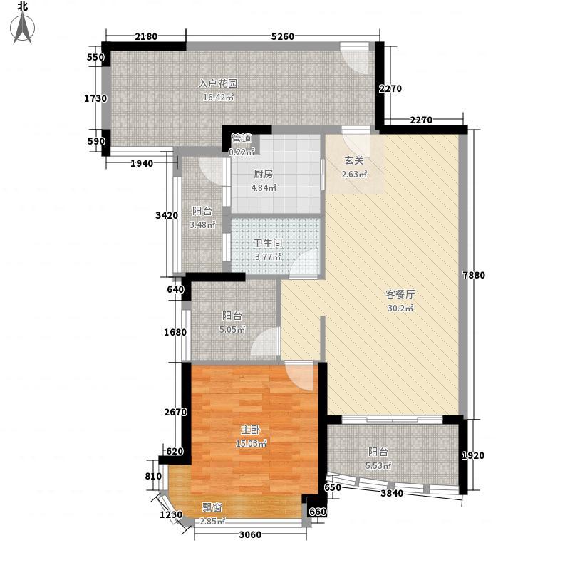 悦盈新城118.00㎡10栋022+N户型2室2厅1卫1厨