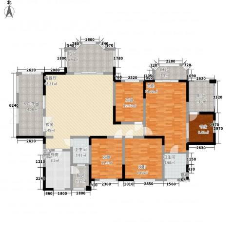 神仙树大院(高新)5室1厅2卫1厨200.00㎡户型图
