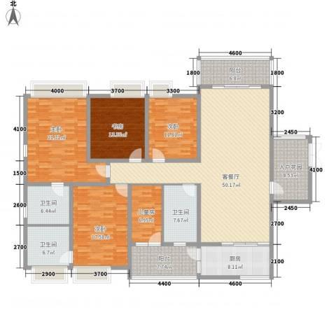 龙泉华苑5室1厅3卫1厨195.00㎡户型图