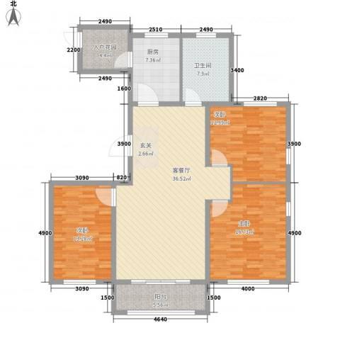 浞景馨园3室1厅1卫1厨147.00㎡户型图