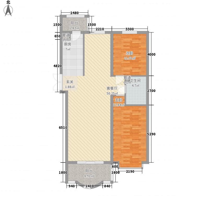 南极国际81.64㎡尚金华府3、4号楼户型3室1厅1卫1厨
