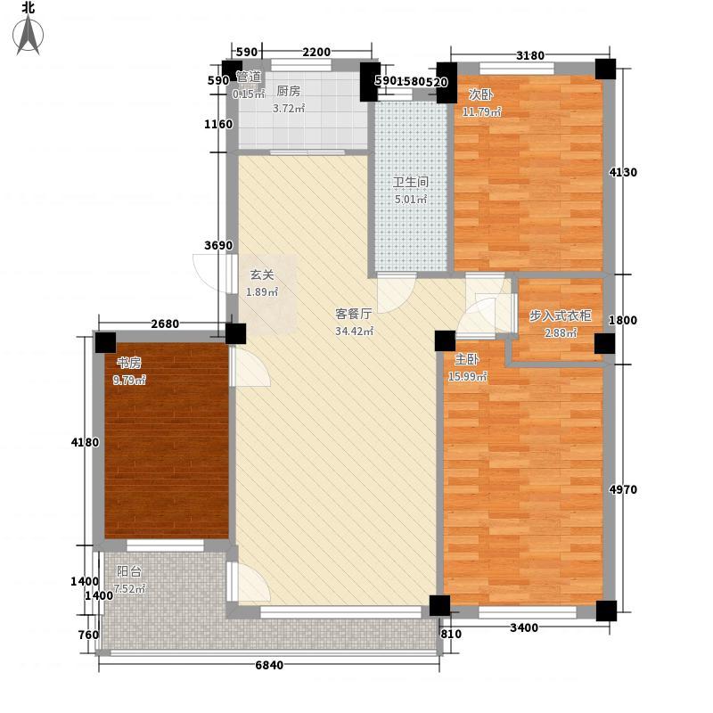 凤凰山花园11.85㎡户型3室2厅1卫1厨