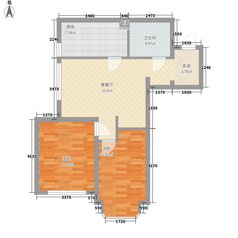 旺海公府二期高层10号楼标准层E2户型