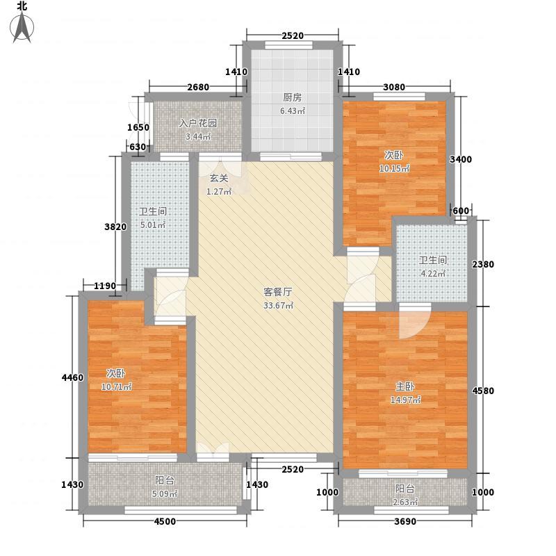 易安明郡140.00㎡易安明郡户型图11#k户型3室2厅2卫1厨户型3室2厅2卫1厨
