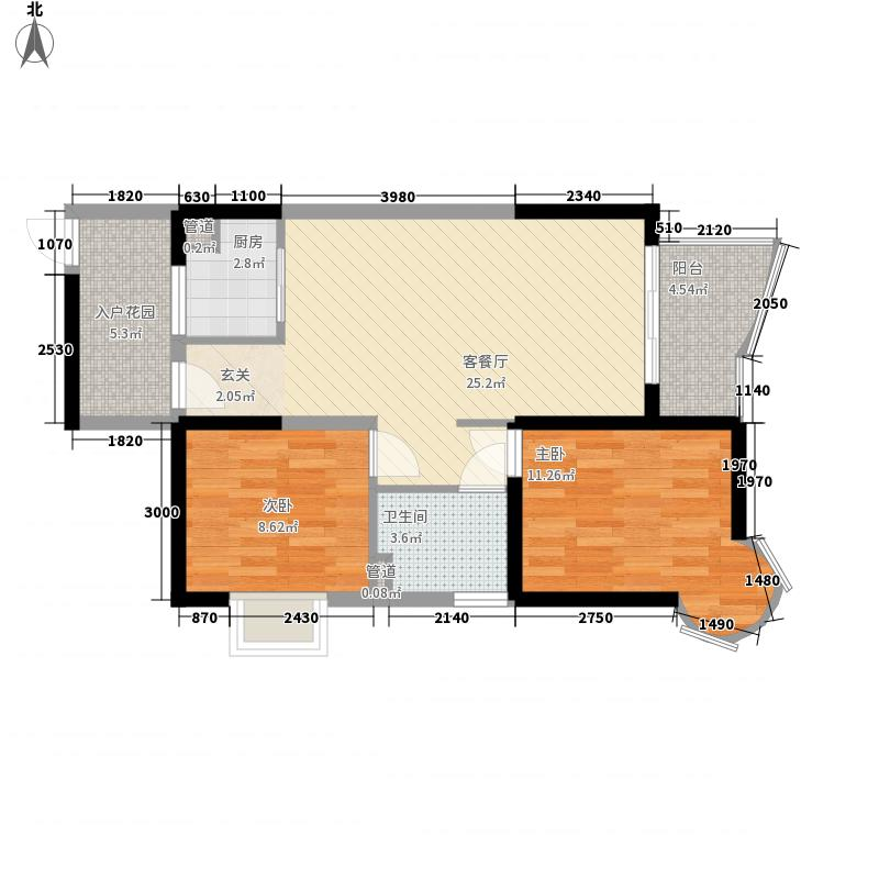 路路通・航天椰城80.33㎡路路通・航天椰城户型图D户型2室2厅1卫1厨户型2室2厅1卫1厨