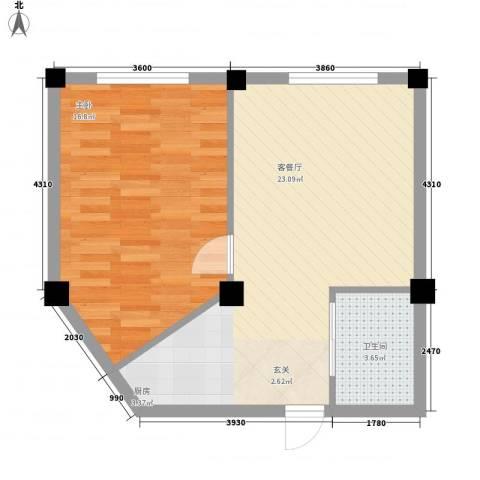 酷派公寓1室1厅1卫0厨60.00㎡户型图