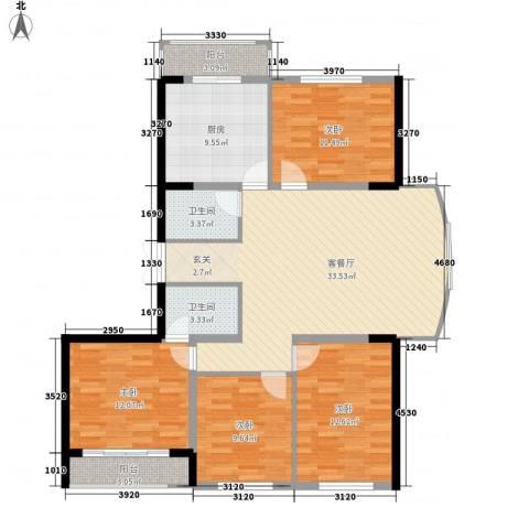 金安桃源城市4室1厅2卫1厨141.00㎡户型图