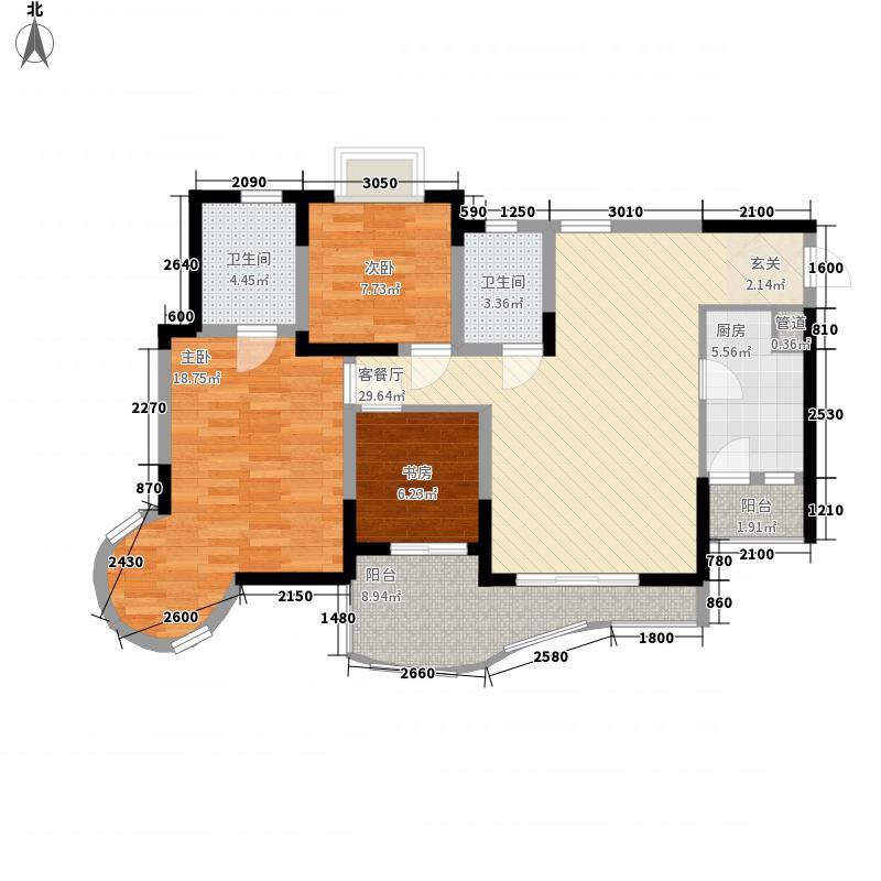 鼎盛山水3.28㎡C4-2户型3室2厅2卫1厨