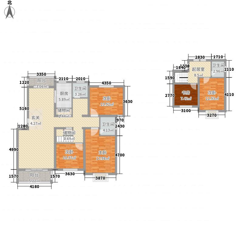 天奇・馨城188.00㎡F5户型5室2厅3卫