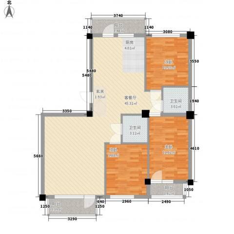 澜・语3室1厅2卫0厨129.00㎡户型图