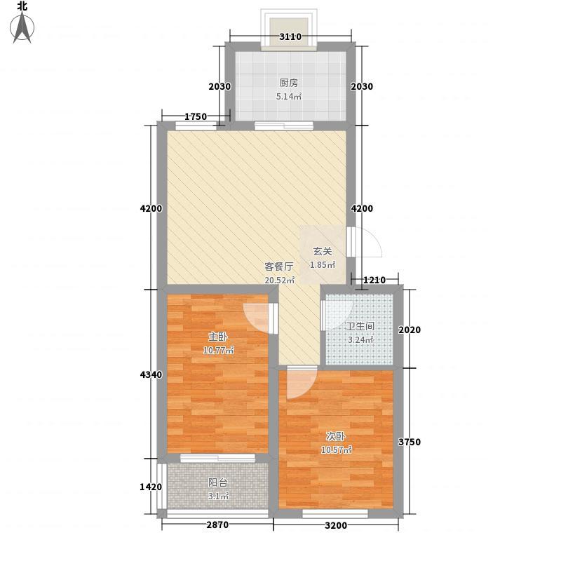 河畔景苑77.10㎡mum・河畔景苑户型图户型C2室户型2室