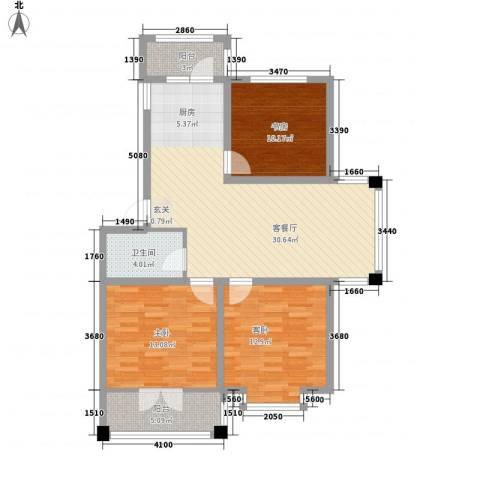 华远・龙湾2室1厅1卫0厨78.88㎡户型图