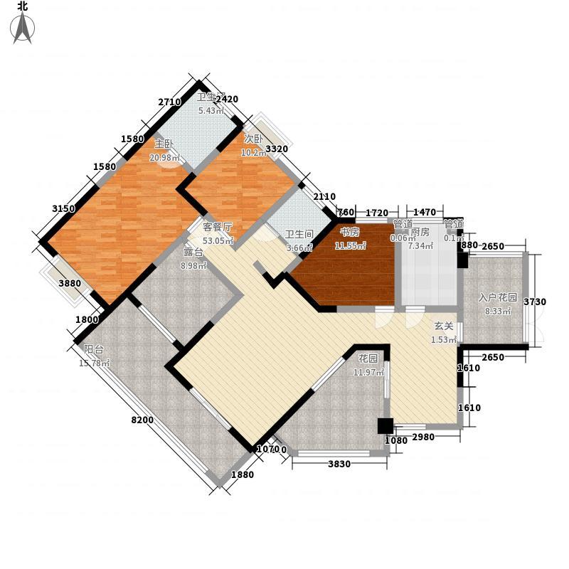 神仙树大院(高新)169.43㎡三期F2面积16943m户型