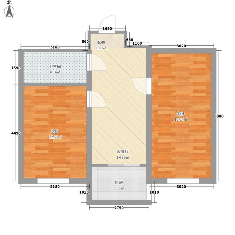 家富园64.14㎡家富园户型图g2室2厅1卫1厨户型2室2厅1卫1厨