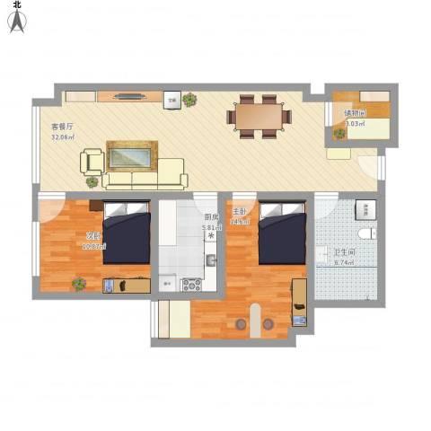金座威尼谷2室1厅1卫1厨105.00㎡户型图