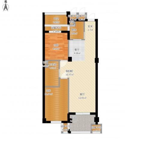 香槟水郡2室1厅1卫1厨99.00㎡户型图
