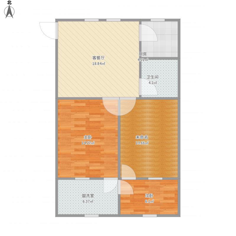 二室二厅69平方