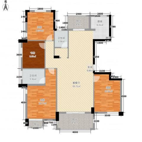 法院宿舍4室1厅2卫0厨188.00㎡户型图