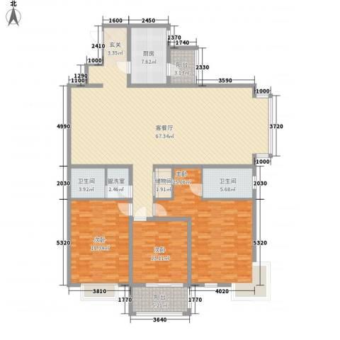 依山居3室2厅2卫1厨215.00㎡户型图