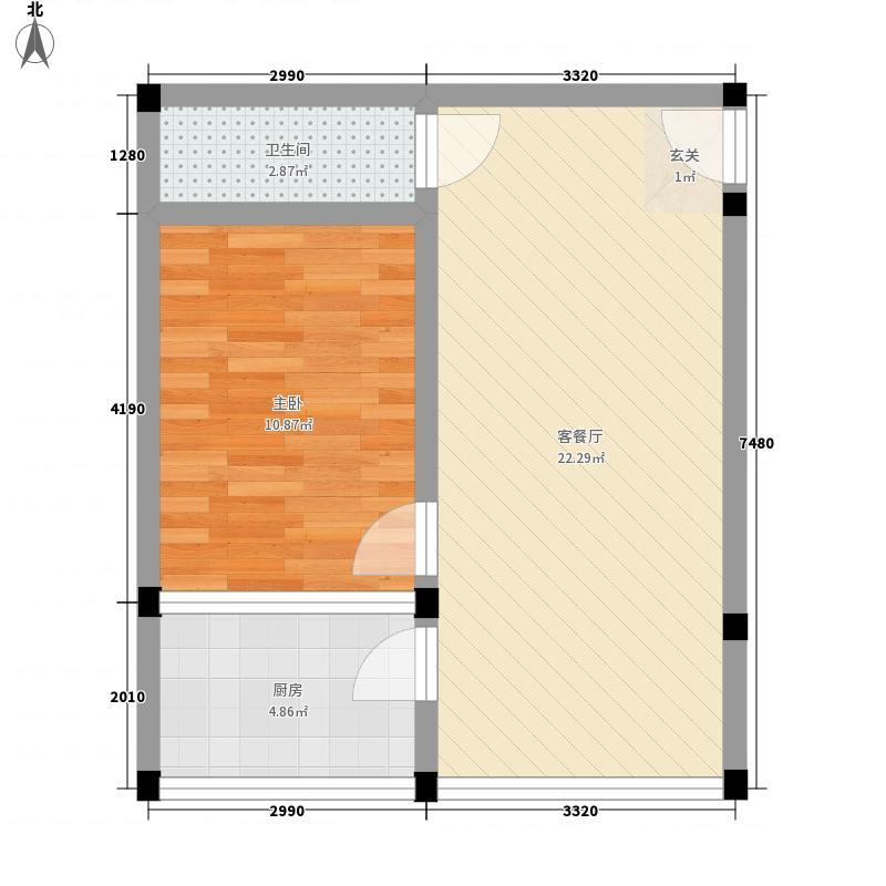 新九洲花园59.31㎡新九洲花园59.31㎡1室1厅1卫1厨户型1室1厅1卫1厨