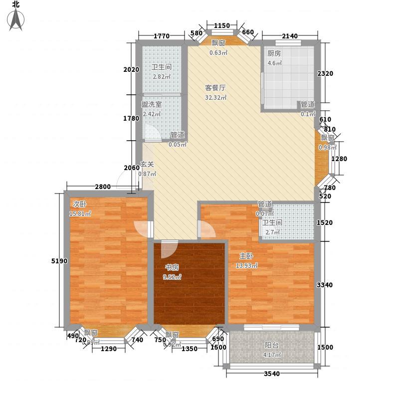 石桥新苑125.13㎡户型3室2厅2卫