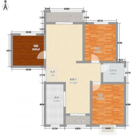 金昌二里3室1厅1卫1厨137.00㎡户型图