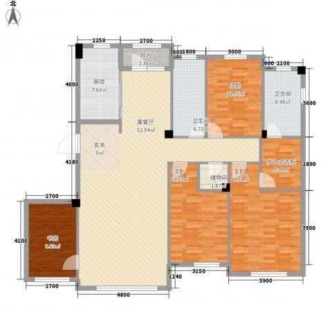 金石城4室1厅2卫1厨187.00㎡户型图