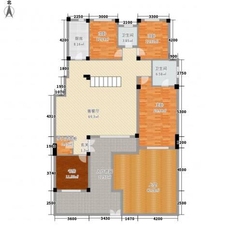 金石城4室1厅2卫1厨225.87㎡户型图