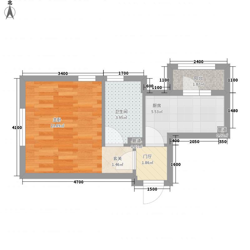 亿海阳光1室0厅1卫1厨39.00㎡户型图