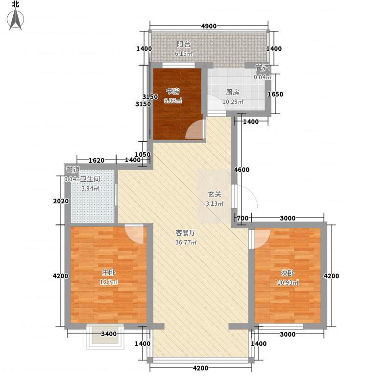 吴中印象114.30㎡二期N户型2室2厅1卫