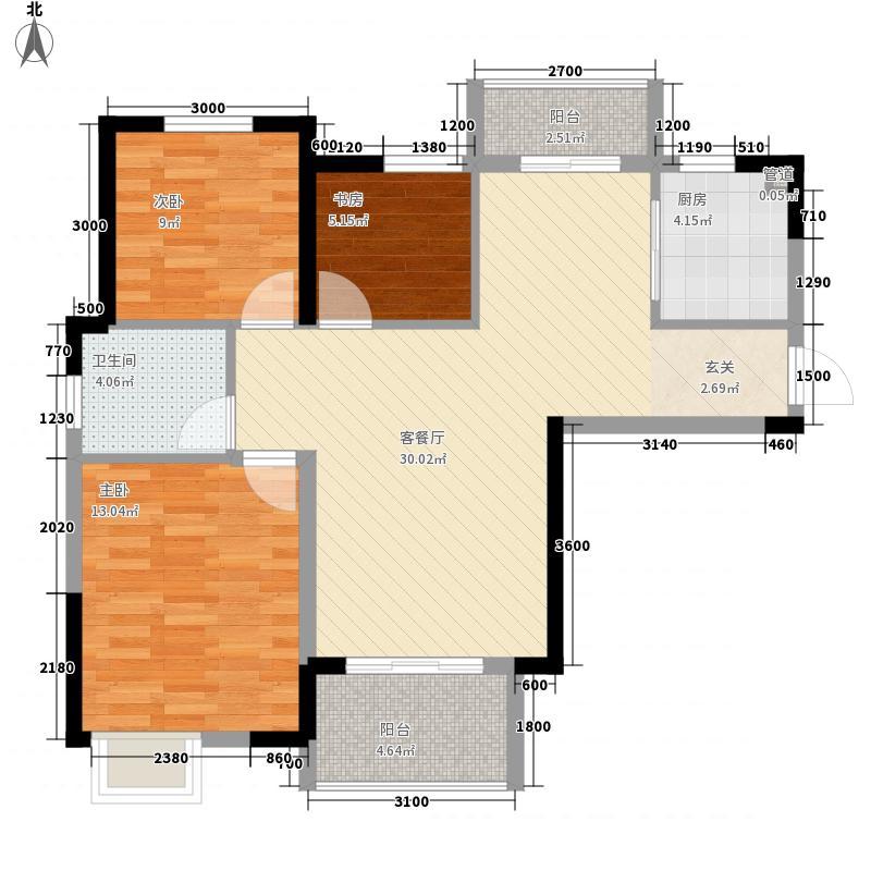 津发138.00㎡小区户型3室