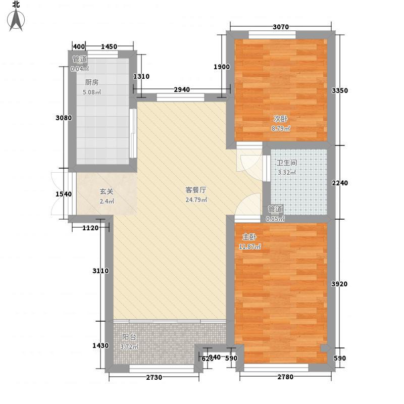 高投高新嘉园84.00㎡10-11#B3户型2室2厅1卫1厨