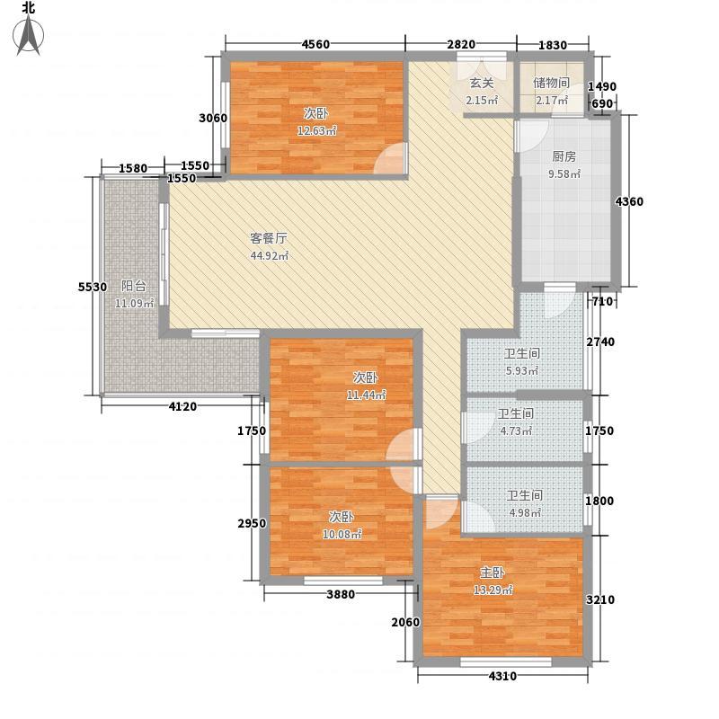 东方剑桥183.44㎡上海户型