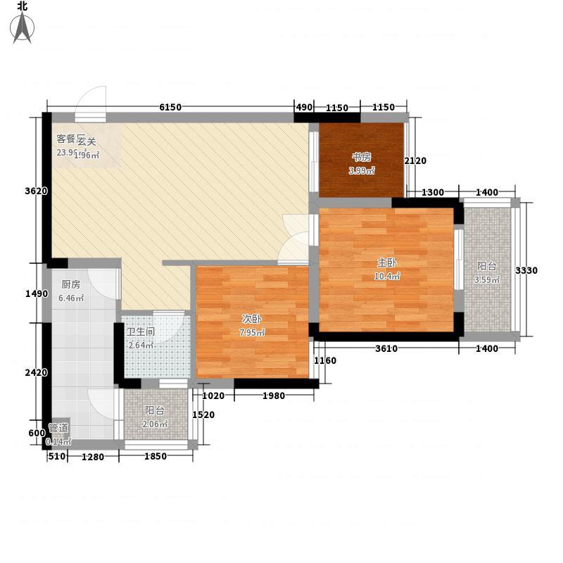 融科钓鱼台一期1、2、5号楼标准层A2户型