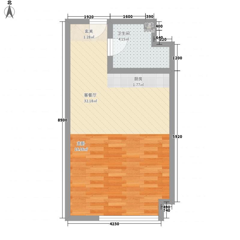 青城寓所51.00㎡户型1室1厅1卫1厨