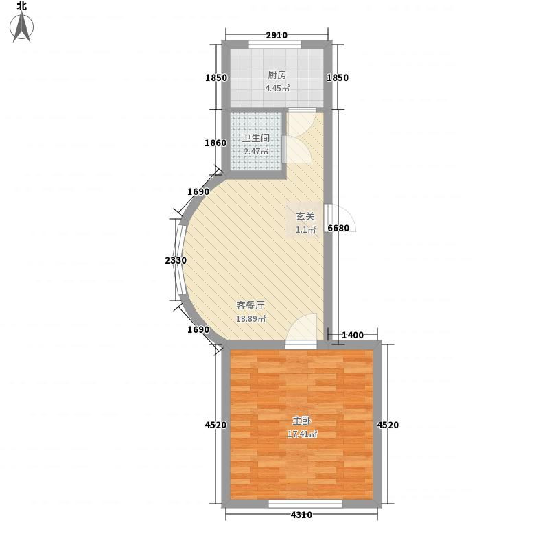 云鼎家园61.95㎡云鼎家园户型图1室1厅1卫户型10室