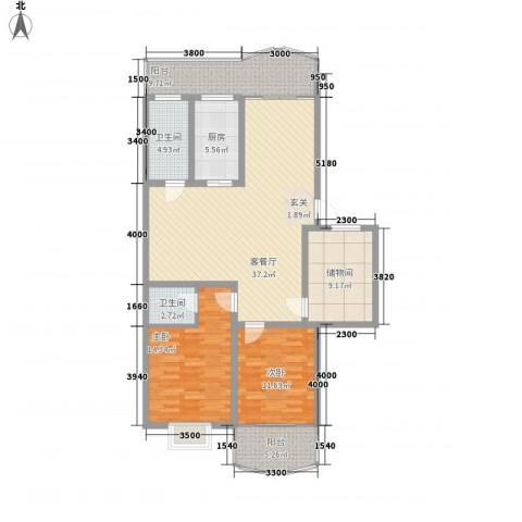 森宝大厦2室1厅2卫1厨143.00㎡户型图