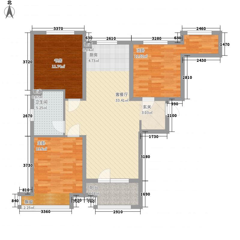 永定河孔雀城英国宫88.00㎡维多利亚花园S21户型2室2厅1卫1厨