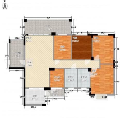 幸福家园4室1厅2卫1厨183.00㎡户型图