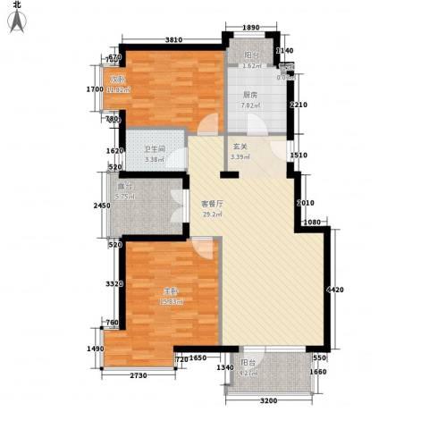 金色漫香林别墅2室1厅1卫1厨108.00㎡户型图